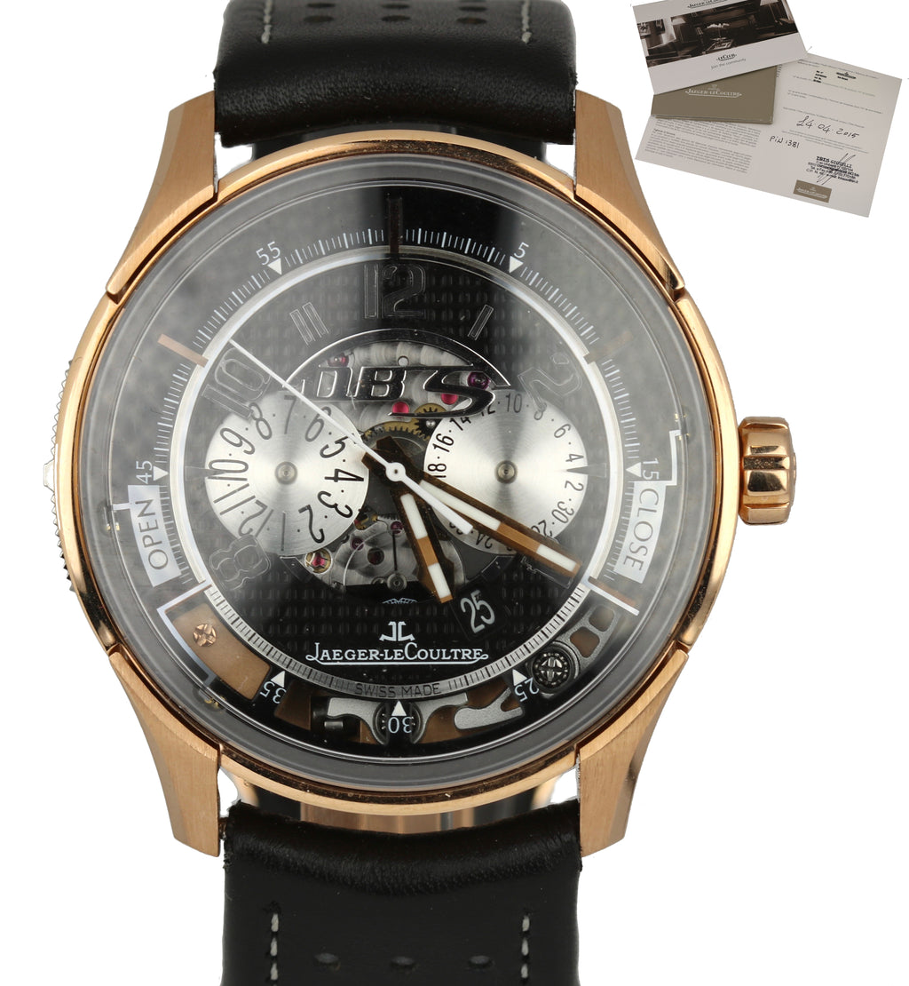 Jaeger LeCoultre Aston Martin AMVOX2 DBS Transponder 18k Rose Gold Watch 192.24.