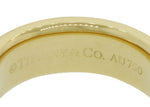 Womens Tiffany & Co. 18k Yellow Gold 6mm Wide Milgrain Wedding Band Ring