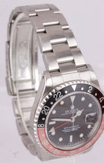 1999 UNPOLISHED Rolex GMT-Master II A-SERIAL 40mm Coke Red Swiss 16710 Watch