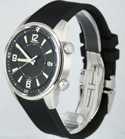 Jaeger LeCoultre Polaris 842.8.37 Black Date Stainless Steel Rubber 42mm Watch