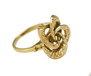 Ladies Vintage Estate 14K Yellow Gold Spiral Floral Filigree Cocktail Ring