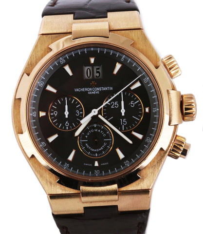 Vacheron Constantin Overseas 49150 42mm 18K Rose Gold Chronograph Date Watch