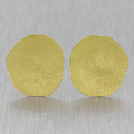 Modern 22k Yellow Gold Hand Hammered Earrings