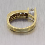 Jose Hess 14k Yellow Gold Modernist 0.50ctw Diamond Ring