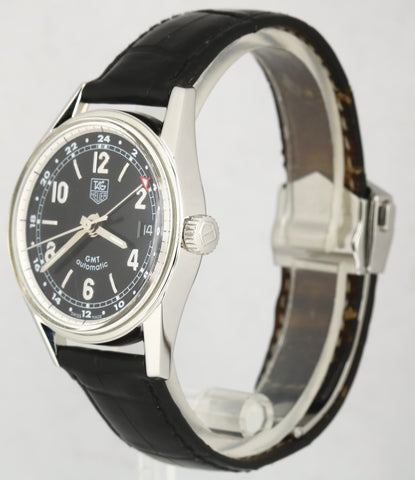 TAG Heuer Carrera GMT Vintage 1964 Re-Edition Automatic Black Leather WV2113