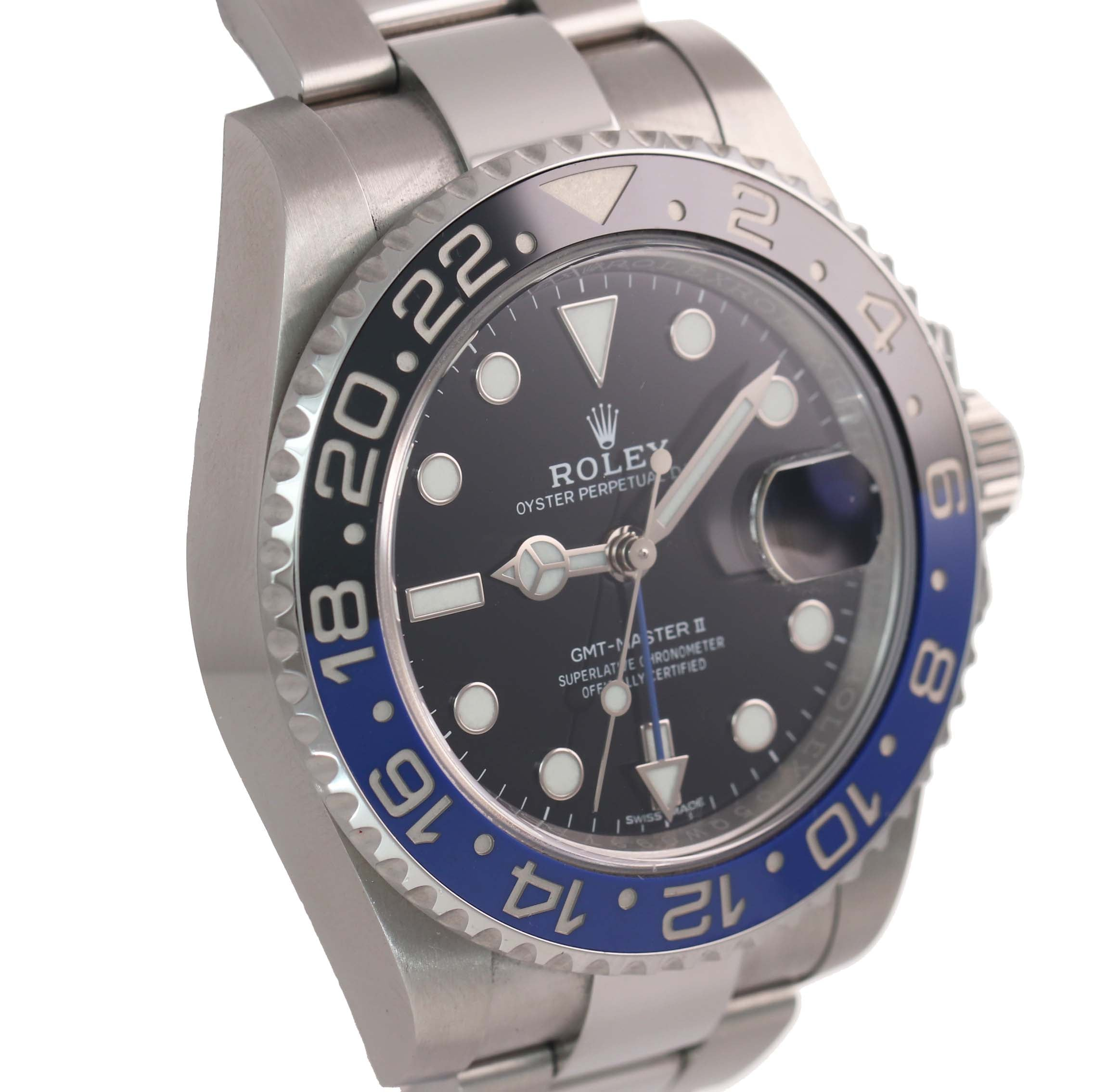 MINT 2017 PAPERS Rolex GMT Master Blue 116710 BLNR Ceramic Batman Watch Box