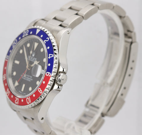 1995 Rolex GMT-Master Pepsi Blue Red Stainless 16700 40mm Date Watch 16710