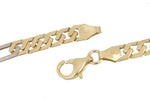 "Men's Solid 14K 585 Two-Tone Gold 7mm Fancy Link Chain 24.50"" Necklace 48.6gr"