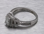 Women's Modern 14K White Gold 0.72ct Diamond Halo Engagement Ring EGL
