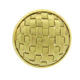 Vintage Estate 18k Solid Yellow Gold Round Woven Stud Weave Omega Back Earrings