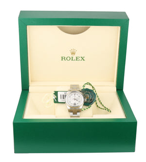 MINT 2016 Ladies Rolex Oyster Perpetual 26 176200 26mm Silver 3 Arabic Watch