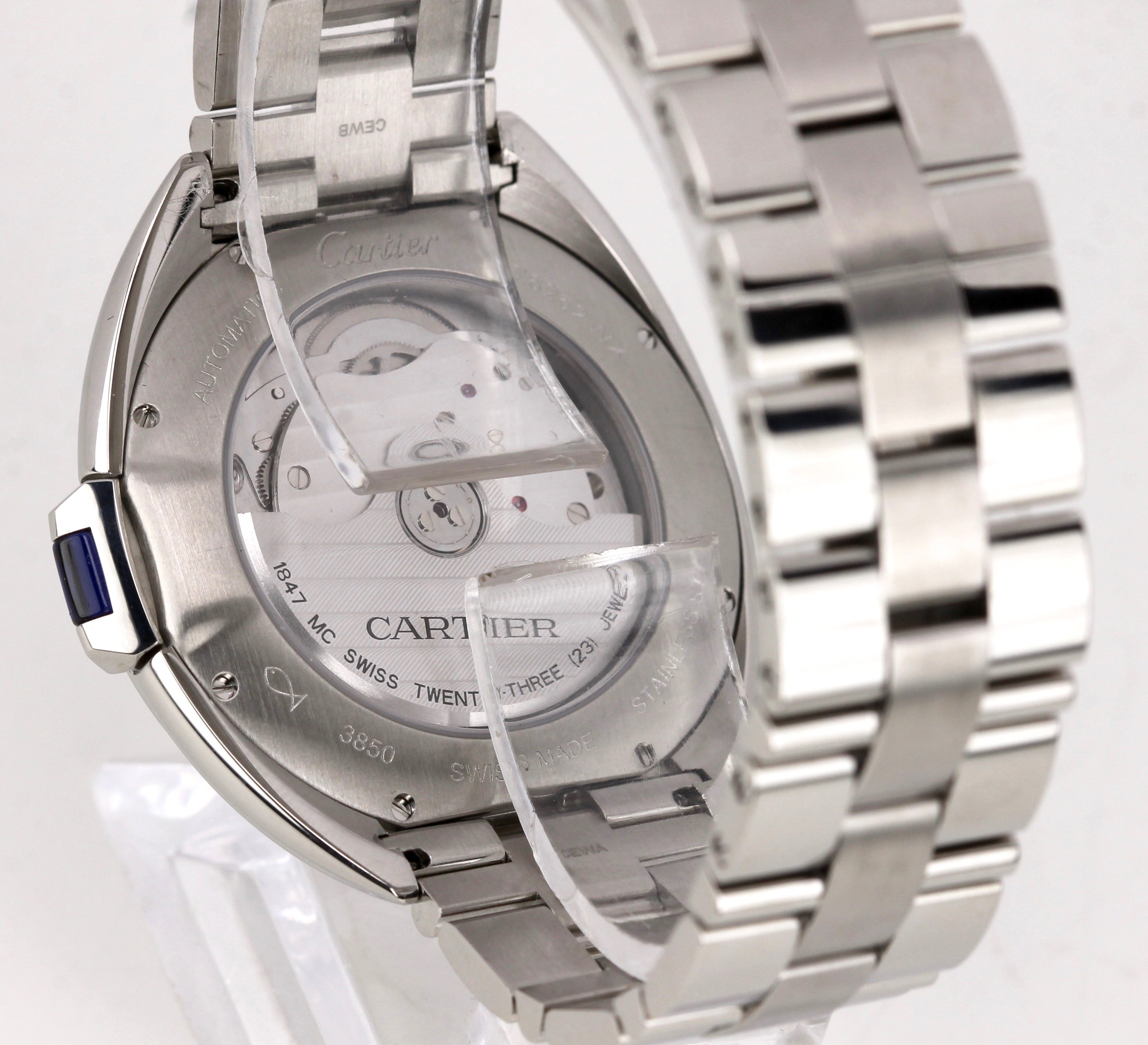 2017 Cartier Clé Cle Automatic WSCL0007 3847 40mm Stainless Steel Date Watch