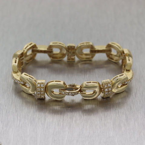 Antique Vintage Estate 14k Yellow Gold 1ctw Diamond Bracelet