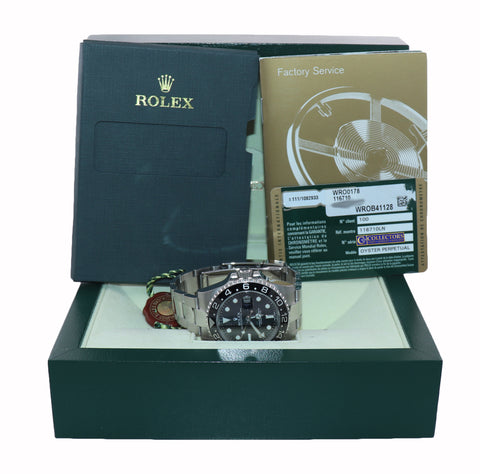 MINT 2014 PAPERS Rolex GMT Master 116710 Steel Ceramic 40mm Black Watch Box