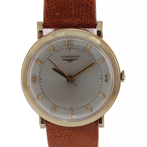 VTG Longines Manual Wind Solid 14k Yellow Gold 32mm Watch