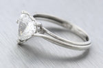 Ladies Modern Platinum 1.24ct Heart Brilliant Diamond Engagement Ring GIA