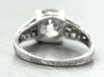 Ladies Antique 1920s Art Deco 1.78ctw Diamond Platinum Engagement Ring EGL USA