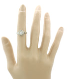 1920s Antique Art Deco 18k Solid White Gold 0.20ct G/SI Diamond Engagement Ring