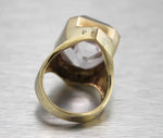 Stunning Ladies Estate 14K Yellow Gold 12.75ct Quartz Diamond Cocktail Ring