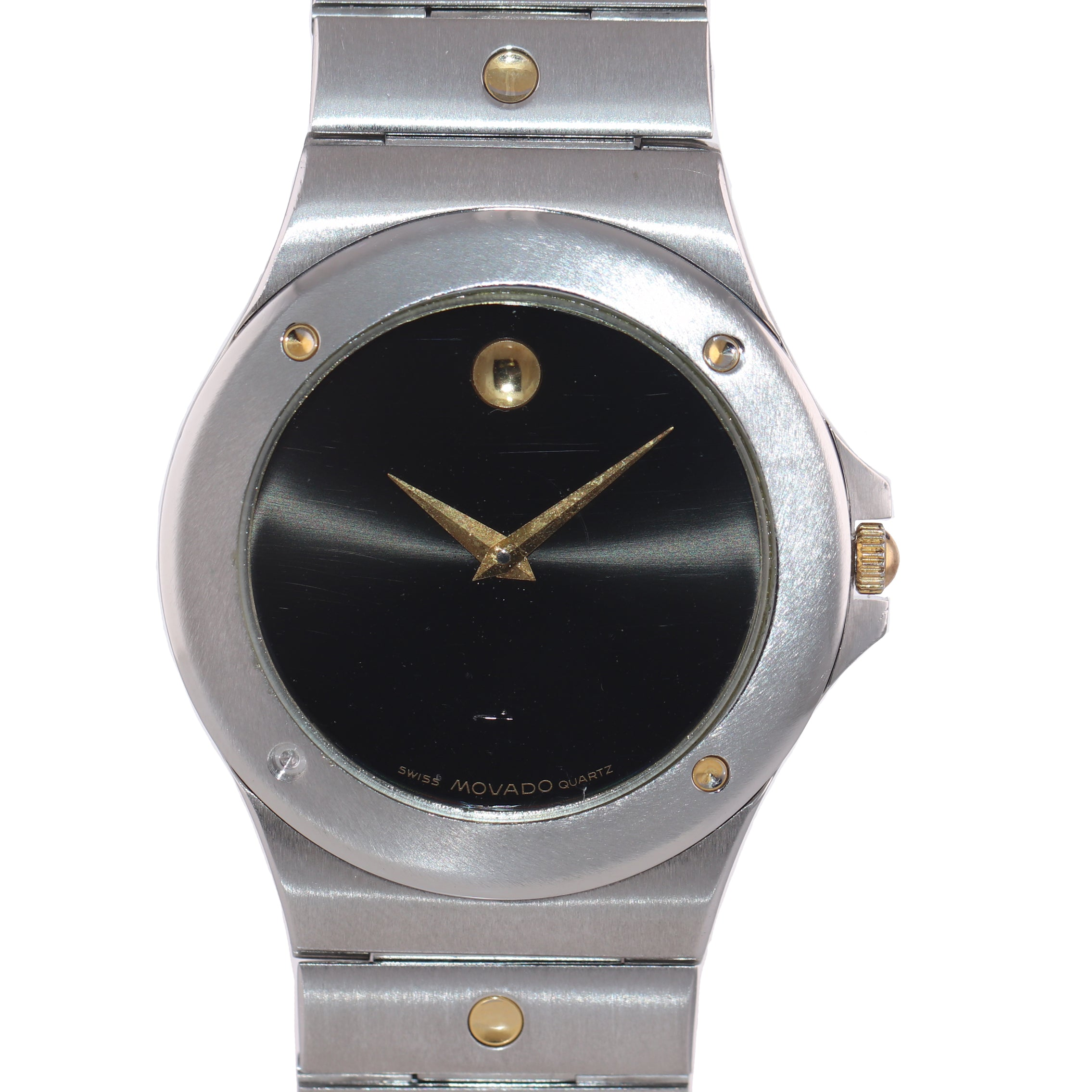 Movado Museum Stainless Steel Gold Tone 86.65.877.02 Quartz Watch