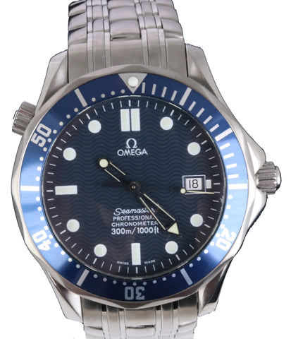 Omega Seamaster Professional 300M 2531.80 Blue Wave Automatic 41mm Date Watch
