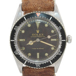 1954 Rolex 6202 GILT CHAPTER Turn-O-Graph 36mm Steel Date Red Triangle Watch