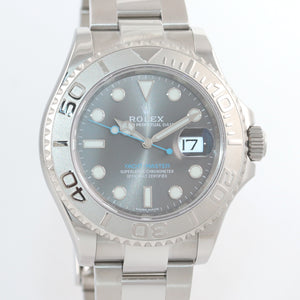 2019 NEW Rolex Yacht-Master 116622 Rhodium Steel Platinum Blue 40mm Watch