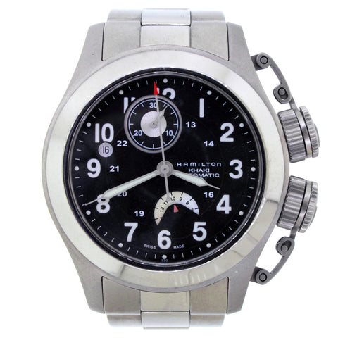 Hamilton Khaki Navy Frogman H77746133 Black Dial Titanium Men's Watch