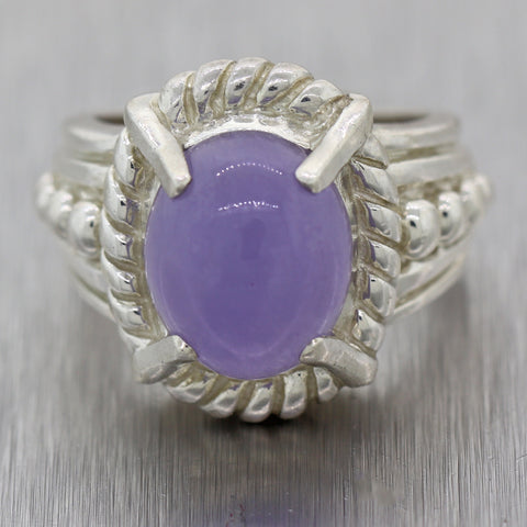 Judith Ripka Vintage Sterling Silver Purple Quartz Ring