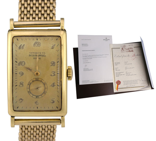 Vintage 1947 Patek Philippe Tiffany & Co. 644.263 18K Yellow Gold Watch Ref. 431
