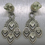 John Hardy Sterling Silver & 18k Yellow Gold Naga Chandelier Earrings