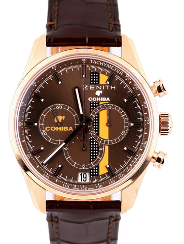 Zenith El Primero Chronomaster Legend Of Cohiba 40mm 18K Rose Watch 18.2041.400