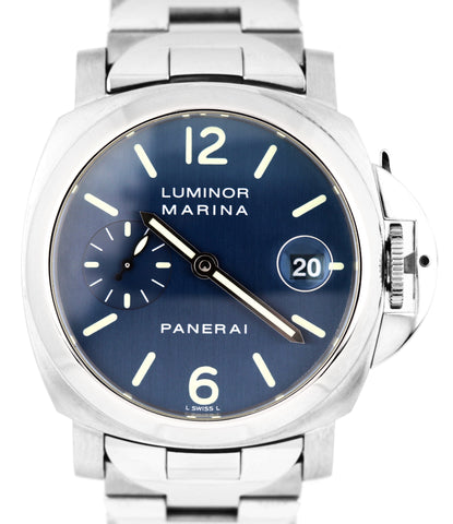 Panerai PAM 120 40mm Luminor Marina Firenze 1860 Stainless Blue Watch PAM00120