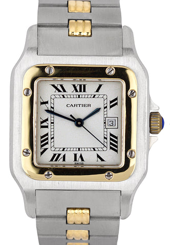Ladies Cartier Santos 29mm Stainless Steel Two-Tone Swiss Automatic Watch 2961