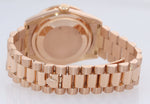 PAPERS NEW BUCKLE Rolex President Rose Gold 36mm 118205 Pink Roman Diamond