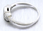 Vintage Estate 18k Solid White Gold 0.40ctw Square Diamond Band Ring