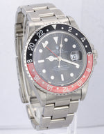Vintage 1995 Rolex GMT-Master 40mm FADED Coke Black Red T 16700 Jubilee Watch