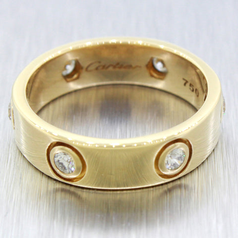 Inspired 18k Solid Yellow Gold 0.60ctw Round Diamond LOVE Ring Size 10.25
