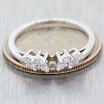 1930's Antique Art Deco 14K White Gold .25ctw Diamond Angel Wings Band Ring