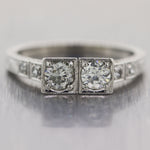 1930's Antique Art Deco Platinum 0.48ctw Diamond Band Ring