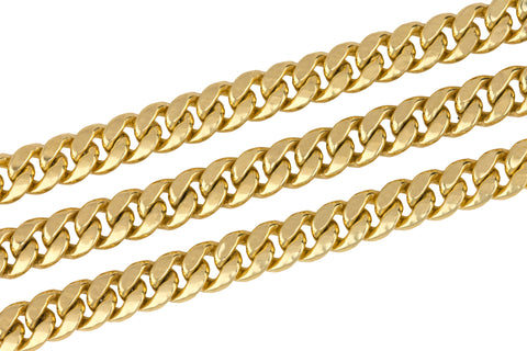 "Men's Hollow Modern 14K Yellow Gold 6mm Cuban Link Chain 24.00"" Necklace 25.7gr"