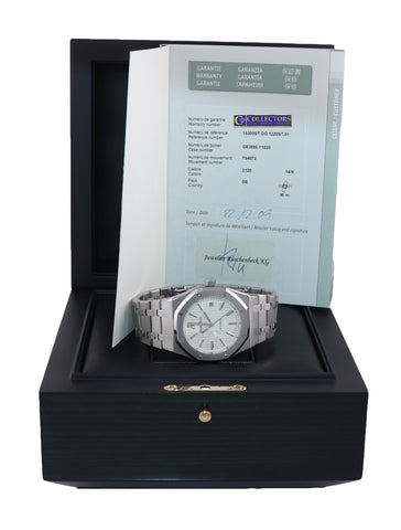 PAPERS MINT Audemars Piguet Royal Oak White Stick 39mm Steel 15300 Watch Box