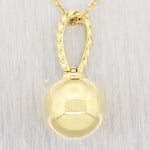 "David Yurman 18k Yellow Gold Solari Pendant 19"" Adjustable Necklace"