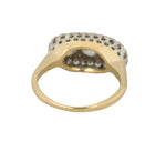 1920's Antique Art Deco 14K Two-Tone Gold 1.69ctw Diamond Cluster Cocktail Ring