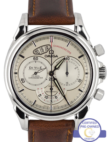Omega Chronoscope Stainless Steel Silver 4850.30.37 Automatic Chronograph Watch
