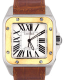 Cartier Santos 100 XL Large W20072X7 2656 38mm Two-Tone Gold Automatic Watch