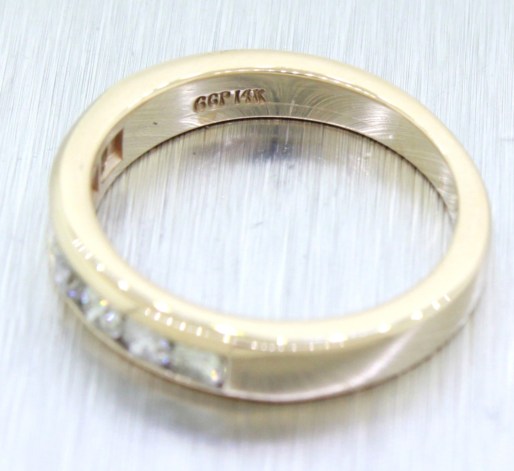 Vintage Estate 14k Solid Yellow Gold 0.70ctw Diamond Band Ring