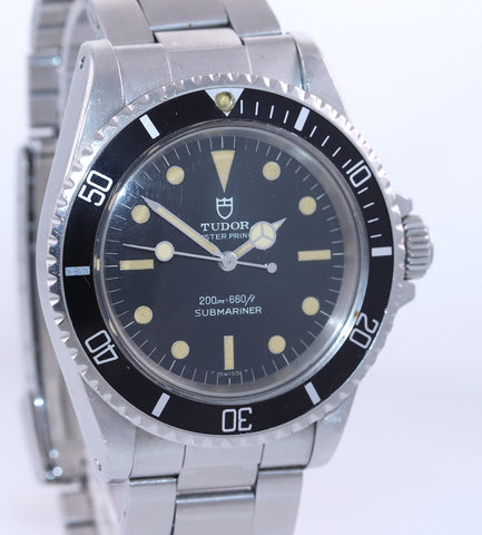 UNPOLISHED PATINA Tudor Submariner Steel Matte Black Prince 7016/0 Steel Watch