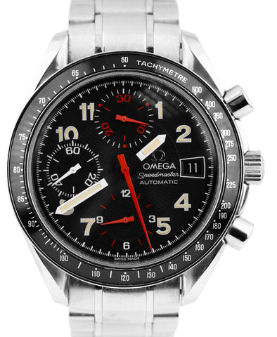 Omega Speedmaster Chronograph Japan Automatic Black Red 39mm 3513.53 39mm Watch