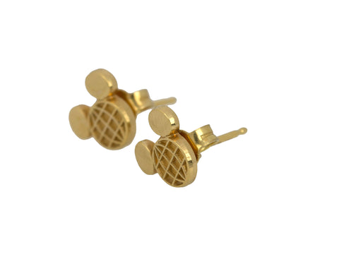 Disney Children's 14k Yellow Gold Mini Mickey Mouse Baby Post Stud Earrings